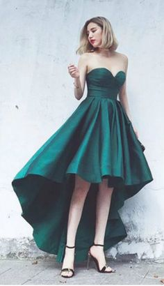 Fashionable Party Dresses,Simple Evening Dress,Satin Made Vestido ,sweetheart Party Gowns,Emerald Green Party Dresses