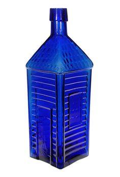 "Top American bitters - cobalt blue ""Old Homestead Bitters"" - the Australian equivalent bottle is worth 5 figures+ Antique Glass Bottles, Antique Glassware, Vintage Bottles, Bottles And Jars, Vintage Perfume, Perfume Bottles, Blue Bottle, Bottle Art, Royal Blue Walls"