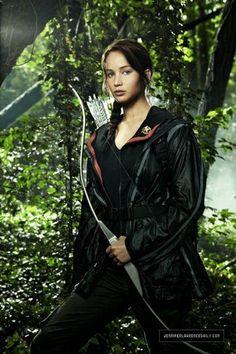 Jennifer Lawrence  Katniss the hunger game