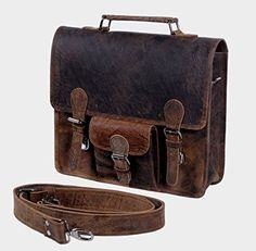 69d271e345a7 awesome KomalC Leather 13 GPH Inch Real Handmade Leather Briefcase Laptop  Messenger Bag Satchel SALE Leather