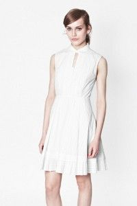 daf15017b4 French Connection Pixel Cotton Dress in White (Winter White) - Lyst