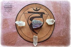 Vishuddhara - Throat  Chakra_Leather Crystal Grid