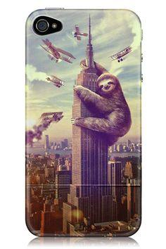SlothZilla iPhone Case. OMG.
