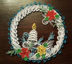 Quilling Instructions, Quilling Christmas, Xmas Ornaments, Christmas Love, Paper Quilling, Grapevine Wreath, Grape Vines, Card Making, Wall Decor