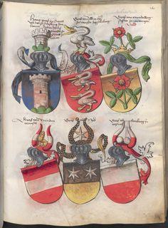 Grünenberg, Konrad: Das Wappenbuch Conrads von Grünenberg, Ritters und Bürgers zu Constanz um 1480 Cgm 145 Folio 170