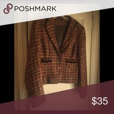 Rustic Fall Tweed Blazer from Express Studios Rustic Fall Tweed Blazer from Express Studios. Add this eye catching piece to your fall wardrobe. In perfect condition, you will not find a price this low! Express Jackets & Coats Blazers