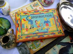 vintage construction blocks