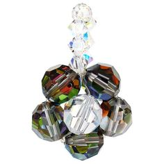 Design Vitrail, Swarovski, Buy Gems, Blue Crystals, Statement Jewelry, Clear Crystal, Sterling Silver Pendants, Free Gifts, Jewelry Stores