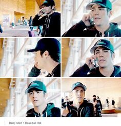 The Flash 1x19 Barry Allen + Baseball Hat = ADORABLE