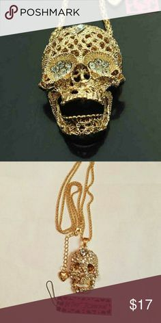 Betsey Johnson Skull Necklace Good times Betsey Johnson Skull necklace. Has movable jaw. Never worn! Really cool pievs Betsey Johnson Jewelry Necklaces