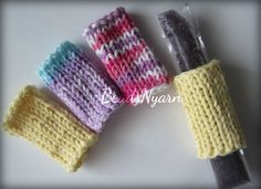 Knitted freeze pop holders cozies wraps buddy by BeadsNyarn, $1.50
