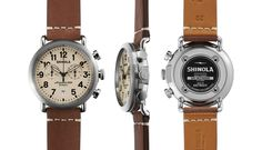 Give him the gift that's built in America with a Shinola timepiece.  Style: the Runwell Chrono in 41mm $750.  Available at MountzJewelers.com