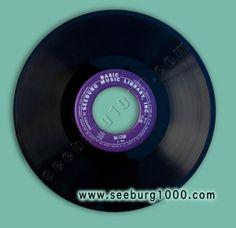 A purple Basic Series Music Record that plays on Seeburg1000 at www.seeburg1000.com