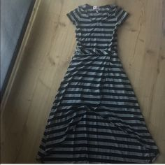 Hi Low Striped Cotton Dress Worn once Dresses High Low