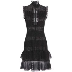 Alexander McQueen Silk-Blend Lace Dress ($2,925) ❤ liked on Polyvore featuring dresses, black, lacy dress, alexander mcqueen, lace cocktail dress, alexander mcqueen dresses and lace dress