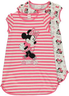 girls-minnie-mouse-2-pack-nightie Baby Kids Clothes, Toddler Girl Outfits, Baby & Toddler Clothing, Toddler Fashion, Kids Outfits, Kids Fashion, Gowns For Girls, Baby Girl Dresses, Baby Dress