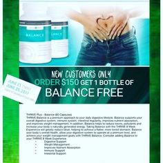 This is the PERFECT addition to your THRIVE 3 STEPS, especially with the new DUO DFT! If you want to see changes, this is the way to do it! Click the link in the comments and create your FREE account today! DUO DFT is expected back in stock anytime, but go ahead and order your Capsules and Shakes and get your FREE BALANCE! Message me if you need help to make sure you get your choice of Vanilla, Chocolate, Strawberry or Apple Pie Lifestyle Mix! Offer Ends JUNE 25 at Midnight, don't wait till…