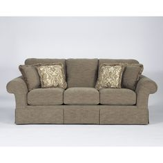 Sonnenora - Mink Traditional Sofa with Rolled Arms by Signature Design by Ashley