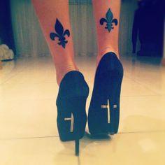 _ fleur de lis ankle tattoo _