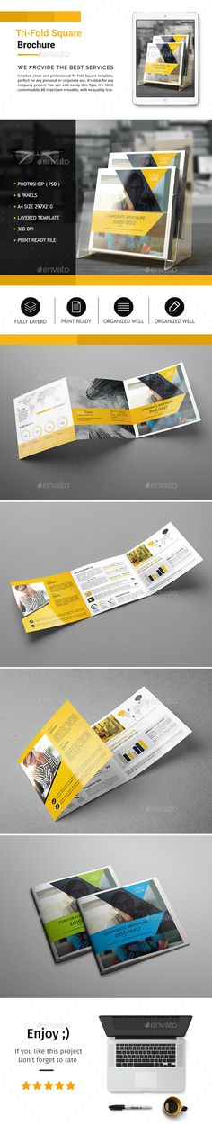 Corporate Tri-fold Square Brochure Template PSD. Download here: http://graphicriver.net/item/corporate-trifold-square-brochure-03/15985895?ref=ksioks
