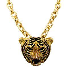 Crystal Tiger Head Necklace £128 ♥