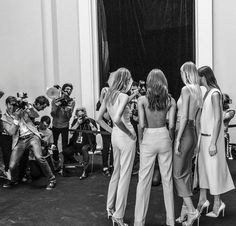 photography Black and White fashion models Backstage runway couture Black And White Aesthetic, Black N White, Crazy Cat Lady, Fashion Art, Fashion Models, Fashion Clothes, Fashion Collage, Fashion Women, Models Style