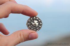 Antarctica Jewelry Antarctica Gift Antarctica 2020 Antarctic Jewellery Ushuaia Men/'s Gift from Antarctica Antarctica Silver Pin