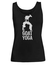 Goat yoga,yoga tank top,yoga gifts,birthday gift ideas,yoga art,goat tank top,fitness tank top,yoga clothing,funny shirt,goat gifts, by Bulwar on Etsy