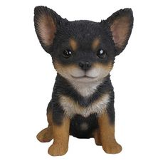 Hi-Line Gift Black and Brown Chihuahua Puppy Statue-87771-W - The Home Depot