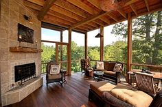 Screened Porch Outdoor Living Area