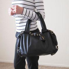 Furla Leather Handbag Leather. Black. Golden chain Furla Bags