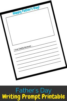 Father's Day is right around the corner and non-crafty moms can use this Father's Day Writing Prompt Printable to help our kids show dads that they care!