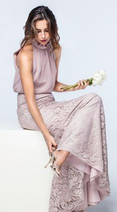 Featured Dress: Watters; Bridesmaid dress idea.