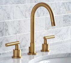 Exton Lever-Handle Widespread Bathroom Faucet | Pottery Barn