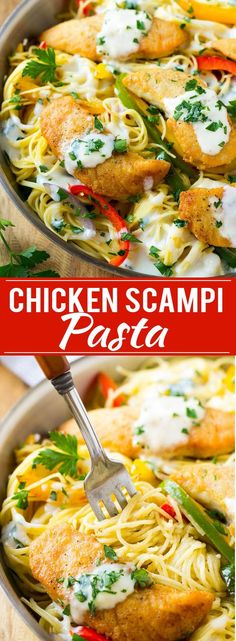 Chicken Scampi Recipe | Easy Chicken Pasta | Olive Garden Copycat | Creamy Chicken Pasta | Italian Food Recipe