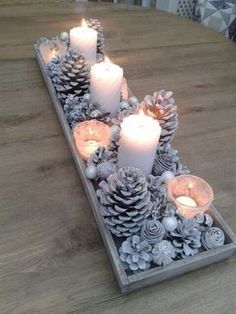 Except with gold! Amazing inexpensive centerpiece for this year!!!