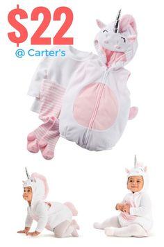 Fun halloween costumes for babies + babies dress up as unicorns + halloween inspiration for parents = baby costumes @ Carter& OshKosh Carters Halloween Costumes, Fairy Halloween Costumes, Unicorn Halloween, Toddler Costumes, First Halloween, Boy Costumes, Halloween Kids, Costume Ideas, Baby Unicorn Costume