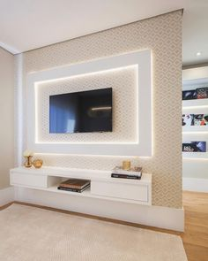 The Rack drop-down models to optimize the most of your space Living Room Partition Design, Room Partition Designs, Living Room Sofa Design, Living Room Designs, Modern Tv Room, Modern Tv Wall Units, Modern Living, Tv Unit Furniture Design, Tv Unit Interior Design