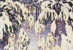 Harris-group of seven Emily Carr, Canadian Painters, Canadian Artists, Group Of Seven Paintings, Tom Thomson Paintings, Environment Painting, Most Famous Artists, Painting Snow, Winter Art