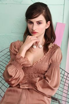 tba(to be adored) karlie silk blouse