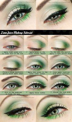 Just 4 u : Lime Shaded Make-up Tutorial