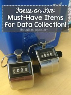 Focus on Five: {Must-Have} Items for Data Collection Find our must-have's for data collection in your special education classroom on the . Autism Classroom, Classroom Setup, Classroom Organization, Classroom Resources, Future Classroom, Visual Schedule Preschool, Preschool Special Education, Autism Preschool, Visual Schedules