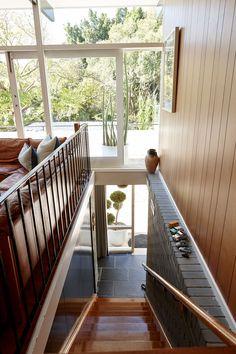 My Favorite Mid-century — Bliss Black Interior Doors, Interior Stairs, Interior Architecture, Interior And Exterior, Interior Ideas, Modern Lake House, Beach House Decor, Home Decor, The Design Files