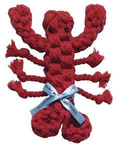 Jax & Bones Good Karma Louie the Lobster Rope Dog Toy Small | Gift Guide | For the Dog Lover | For the Animal Lover | For Her | For Him | Affiliate