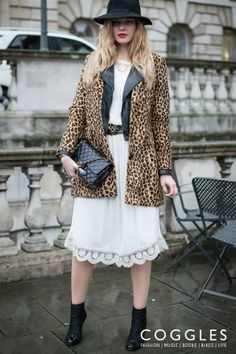 Leopard print statement.  See more Coggles Streetstyle: http://www.coggles.com/life/street-style.list?affil=thgsocial