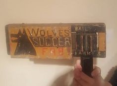 would make a great peace of wall art for a pub or hotel or someones man cave would make a great talk Football S, School Football, Used Stuff For Sale, School Projects, Wolves, Man Cave, Peace, Club, Wall Art