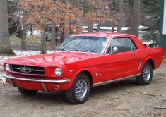 Classic Red 1965 Ford Mustang