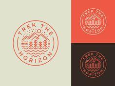 Nature Badge by Alfrey Davilla | vaneltia Outdoor Logos, Outdoor Brands, Earth Logo, Circular Logo, Sun Logo, Mountain Logos, Logo Line, Badge Logo, Circle Logos