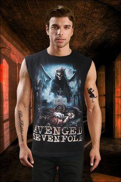 The FOREVER AVENGED SEVENFOLD Sleeveless T-shirt in black.