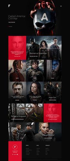 Dark website, web design, dark site
